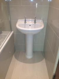 New bathroom suit installed & tiled
