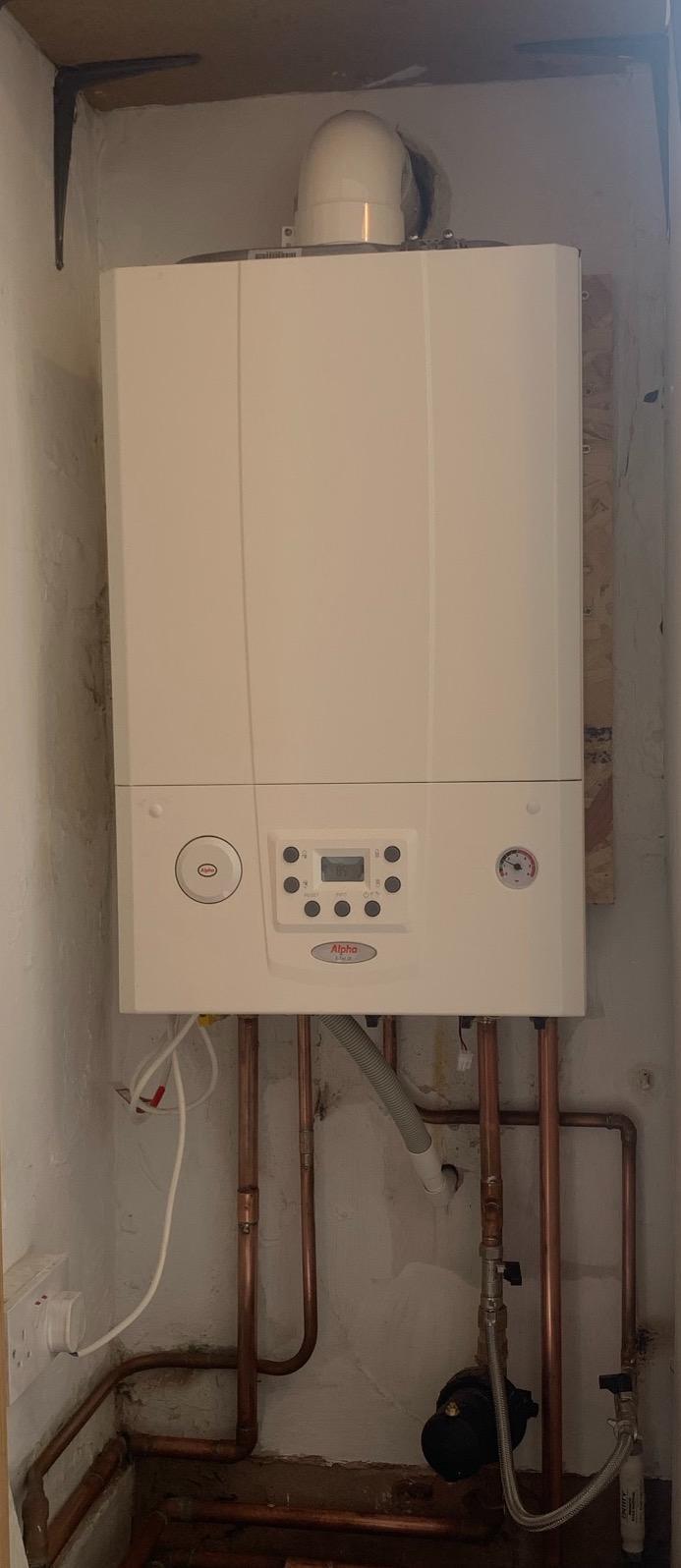 Alpha boiler install