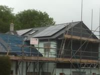All black panels installed on a new build house in chagford