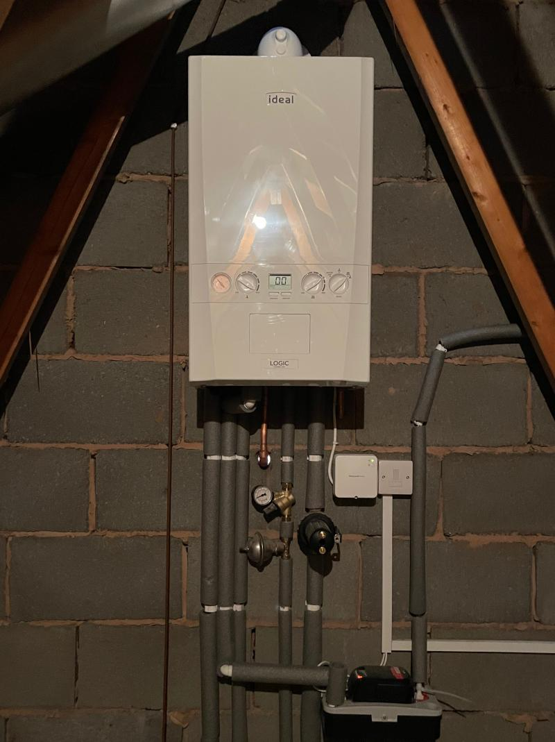 Boiler relocation into loft space