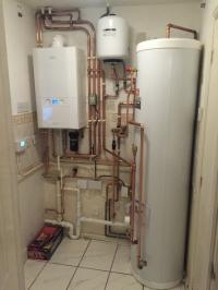 Unvented cylinder and boiler