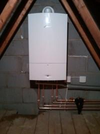 Combi boiler in loft