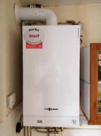 New combi installation with 10 year warranty