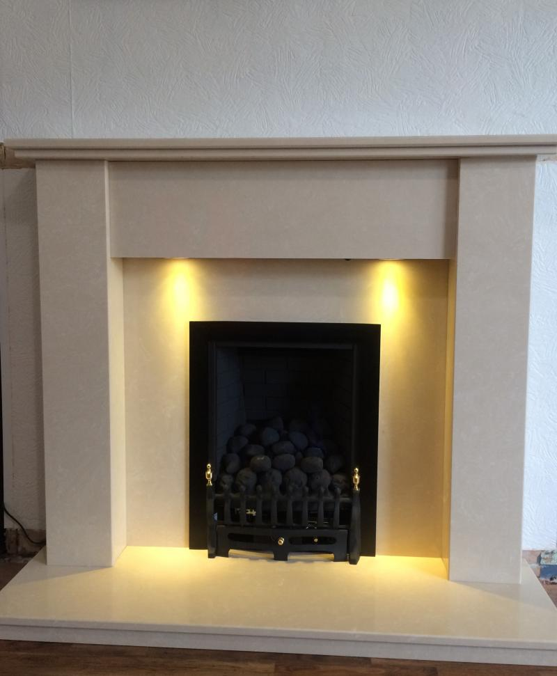Inset gas fire & Surround