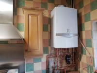 Combi boiler install with filter