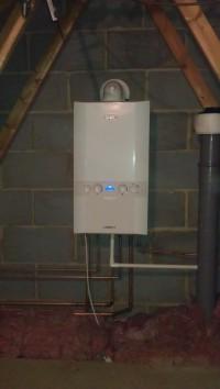 Ideal Logic Combi installation in loft