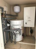 Unvented Cylinder With System Boiler