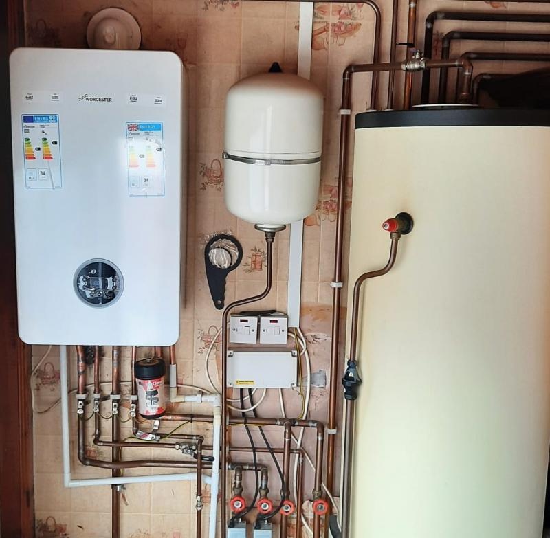 Worcester System Boiler installation
