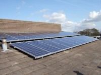 Solar panels at Hallam Community Hall in Sheffield