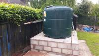 New oil tank along with base and pipework.
