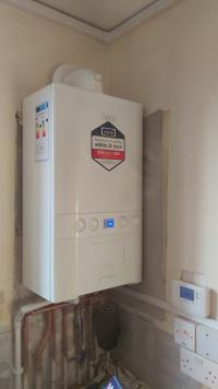 New high efficiency boiler installation