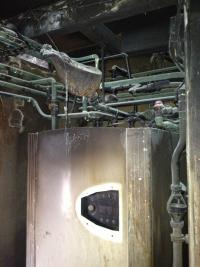 Fire Damaged Heat Pump - Before