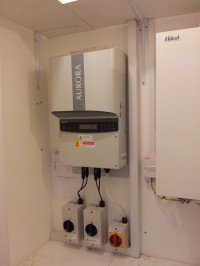 Typical install of ground floor inverter