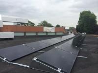 A flat roof system on a School near Heathrow Airport.