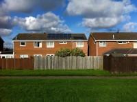 2.2Kwp solar PV plus evacuated tube solar thermal system Cramlington