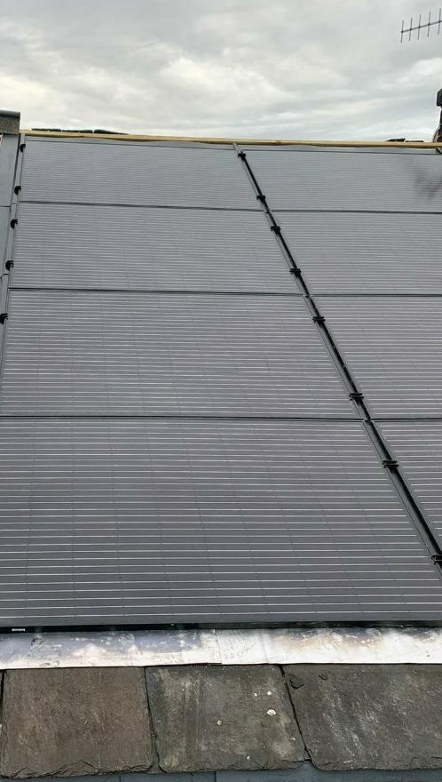 Integrated Solar PV Panels on Slate roof
